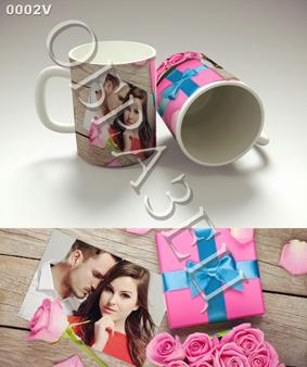 Шаблоны для подарочных кружек ко Дню влюбленных 14 февраля